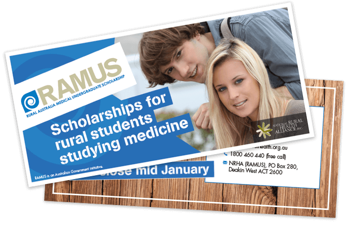 RAMUS Scholarships for rural students studying medicine.